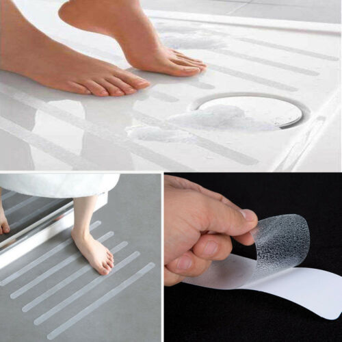 12Pcs//6pcs Anti Slip Bath Grip Stickers Non Slip Shower Strips Flooring Safety T