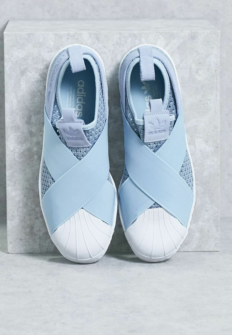 ADIDAS WMNS SUPERSTAR SLIP-ON EASY BLUE BB2121 US WOMENS Price reduction Wild casual shoes