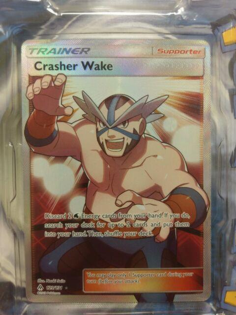 Crasher Wake Full Art 129/131, Forbidden Light Pokemon Card, NEW