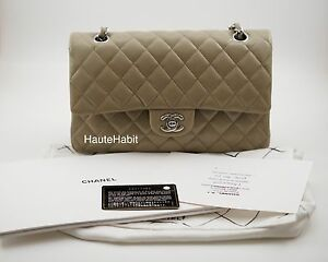 3ad1bd9e70f1 CHANEL TAUPE DARK BEIGE CAVIAR QUILTED CLASSIC MEDIUM LARGE FLAP BAG ...