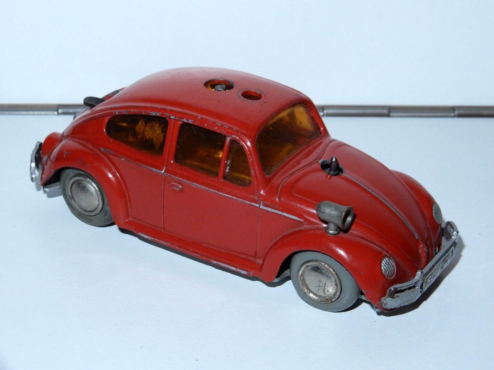 SCHUCO 3000 FERNLENKAUTO VW BEETLE FEUERWEHR FIRE BRIGADE 1950s GERMANY HTF