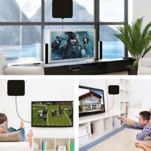 50M Mini Thin Flat Indoor Antenna Aerial HD TV Fox Scout HDTV VHF UHF DTV 25DB