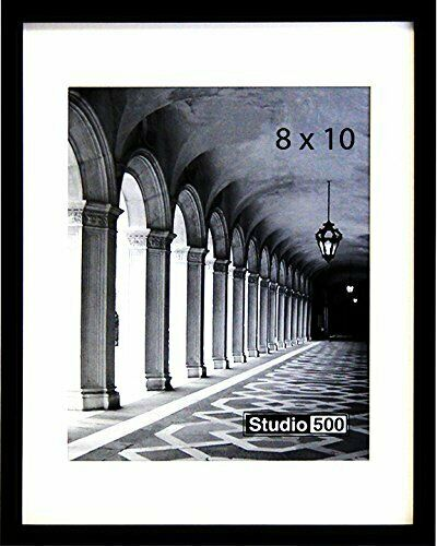 6P Studio 500 Traditional Collection 8 by 10-inch Sturdy Frames Black SGL
