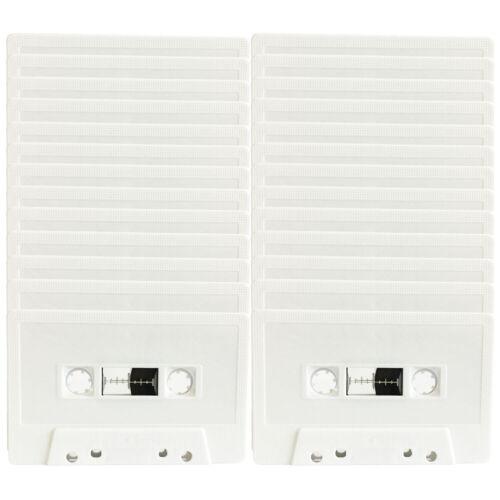 Bulk Pack x 50ea 46 Minute White Blank Audio Cassette Tape fine quality Korean