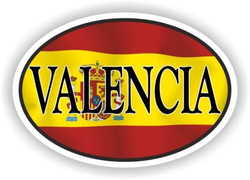 Valencia Spain OVAL Spanish FLAG and CITY NAME Ciudad Española STICKER