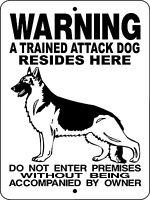 Police K-9 Attack Warning Dog Aluminum Sign 12 X 9 H3391ad