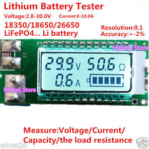 Universal-Lithium-ion-battery-load-capacity-resistance-current-meter-benchmark
