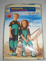Salopette De Pluie Enfant Supermax - Filles Ou Garçon 7-8 Ans Réglable...