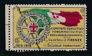 ITALY 1915-16 WW1 FIRENZE ROTARY 5c CHARITY FUND LABEL...L1