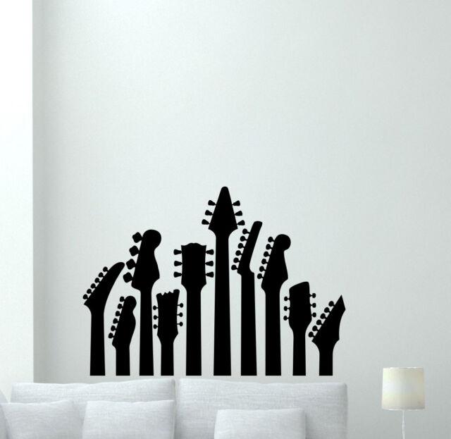 Guitar Wall Decal Music Studio Vinyl Sticker Rock Metal Art Decor ...