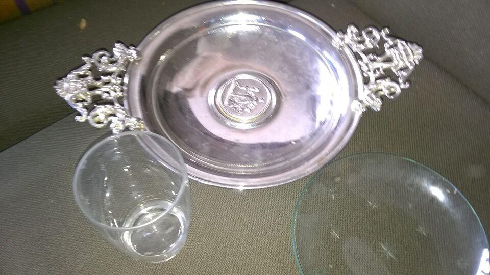Sølvtøj, skål, sølvplet