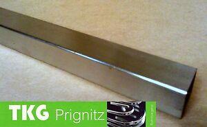 25 cm Vierkantrohr Edelstahl  45 x 45 x 2,0 mm Quadrat Rohr V2A gebeizt Stahl
