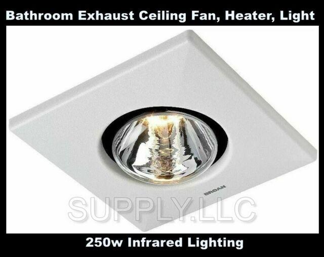 Bathroom Exhaust Ceiling Fan Heater 1 Light Toilet White Home