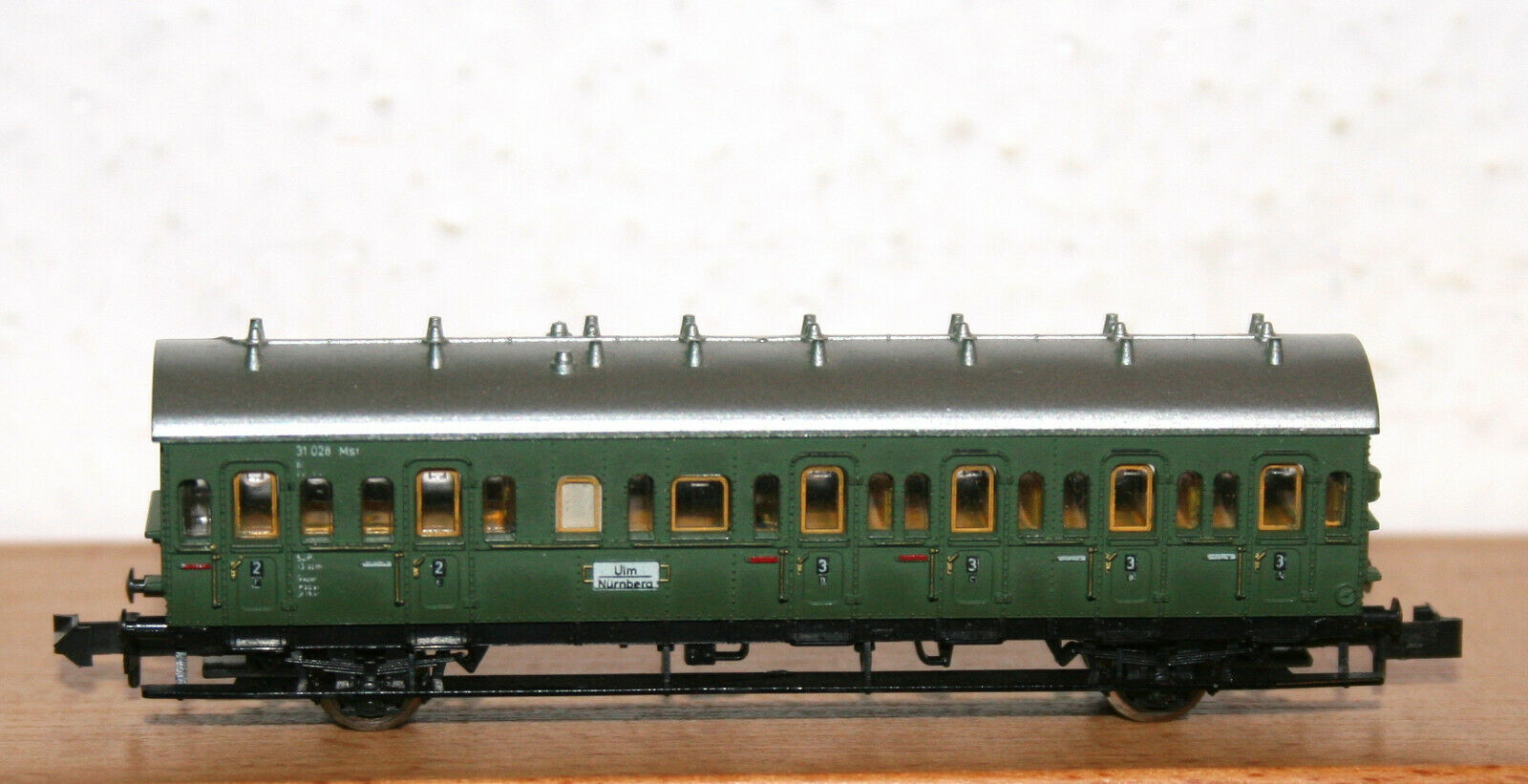 Minitrix Track N 51 3058 00 Passenger Car 2//3 Class 2-axle of DRG OVP #6541