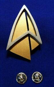 Star-Trek-PICARD-Communicator-Pin-Combadge-Com-Badge-Uniform-Costume