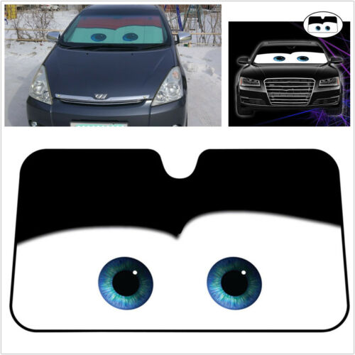 Black Eye Pattern Car Windshield Sunshade Aluminium Foil Heat Blocking Sun Visor