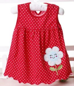 Details About Baby Girl S New Cotton A Line Sleeveless Summer Dress In 28 Designs Size 6 12m
