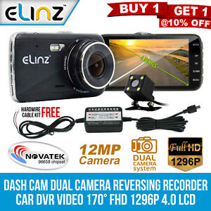 Dash-Cam-Dual-Camera-Reversing-Recorder-DVR-Video-170-FHD-1296P-4-0-LCD-Elinz