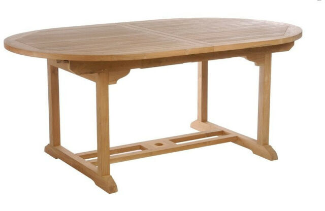 Teak Wood Orleans Oval Extension Table Made By Chic Teak