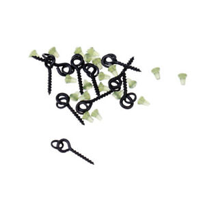 10-x-Bait-Screws-with-Link-Loops-20-x-Hook-Stops-Carp-Fishing-Tackle-Chod-Rigs