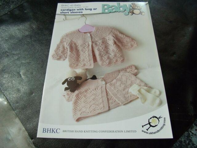 BHKC 43 Baby DK Knitting Pattern Cardigan Long and SS Sleeve | eBay