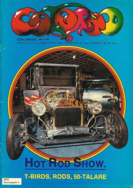 Vintage April 1978 Colorod Hot Rod Car Racing Motorcycle Magazine In Swedish
