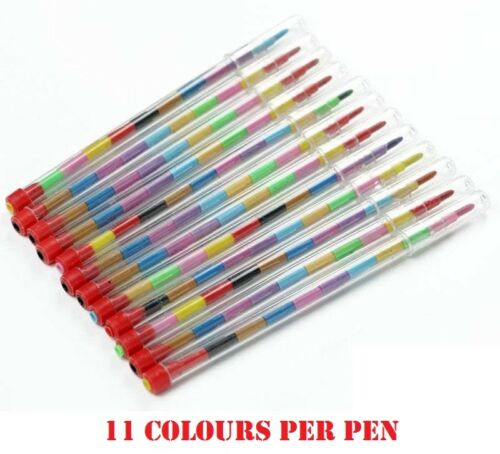 Swap Swop Point Crayons Stacker Crayon de coloriage Pen Kids Party Loot Sac De Remplissage