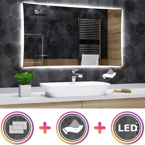 Lisbona K03 Badspiegel mit LED Beleuchtung und Sensor SchalterWandspiegel