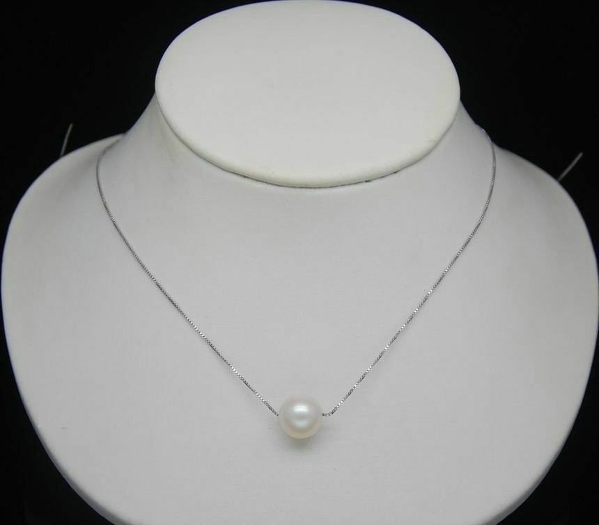 AAA+ 10-11mm south sea round white pearl pendant s925