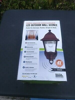 Maxsa Battery Powered Motion Activated Wall Sconce Cool White Super Bright