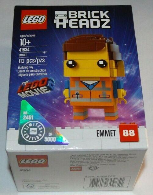 LEGO BrickHeadz 41634 Emmet 2451 of 5000 #88 Movie 2 Walmart Exclusive