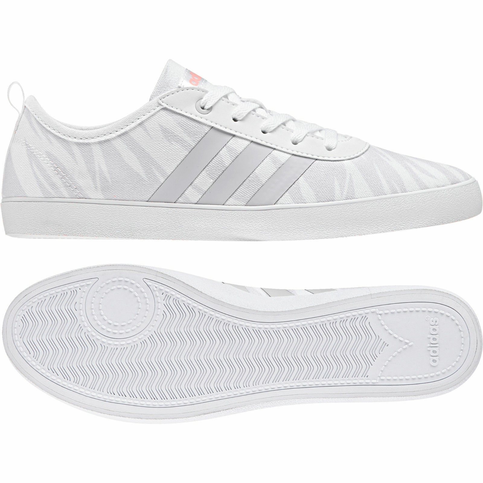 Adidas Neo Women shoes Cloudfoam QT Vulc 2.0 Casual Fashion White DB1799