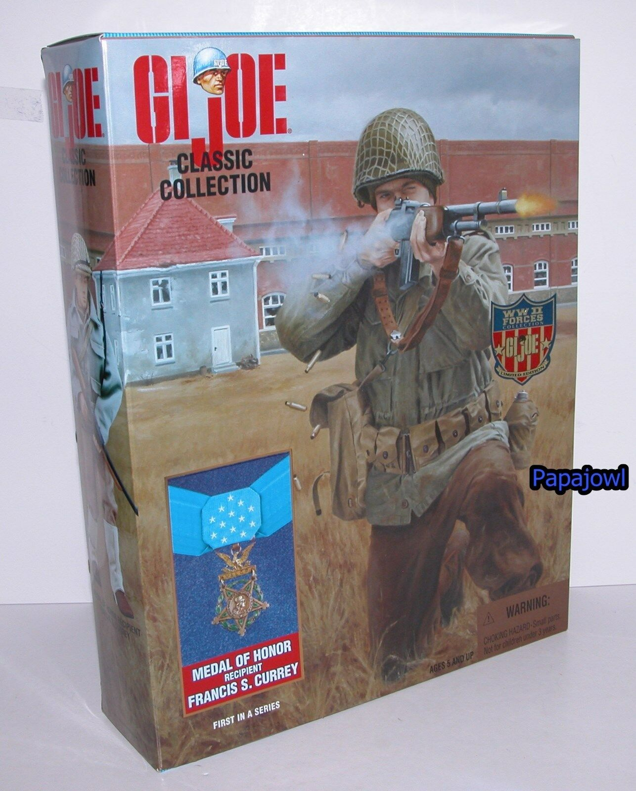 GI Joe Classic Collection Medal Of Honor Francis Currey 12  Action Figure 1997