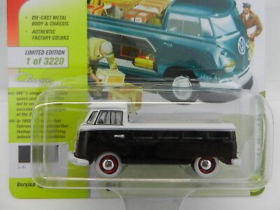 JOHNNY LIGHTNING 1965 VW VOLKSWAGEN TYPE 2 PICK UP 1//64 BLACK JLCP7111 B