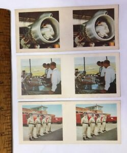 1960s-3D-STEREO-VIEWER-CARDS-CEREAL-AUSSIE-BOEING-707-JET-ENGINE-SYDNEY-AIRPORT