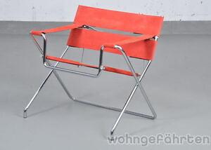 Marcel Breuer Sessel tecta faltsessel d4 rot design marcel breuer stuhl sessel ebay