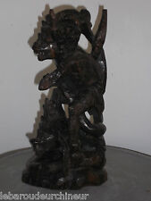 Petite statue Bali old indonesian wood statue