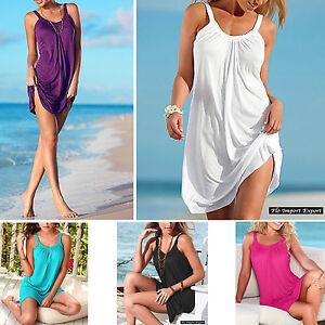 Vestito-Mini-Copricostume-Tinta-Unita-Donna-Woman-Mini-Cover-up-Dress-110274