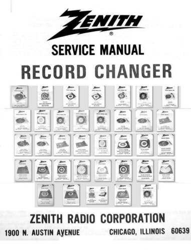 Z Zenith turntable record changers service manual RC