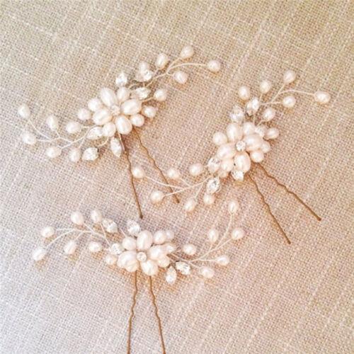 Women Bride Hair Pin U-Clip Korean Style Jewelry Pearl Cluster Hair Pins QK