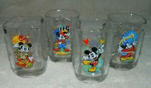 Disney McDonalds Mickey Mouse Year 2000 Celebration Complete Set of 4 Glasses