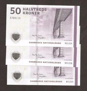 P-65 Denmark 3 UNC /> Sig 2014 50 Kroner