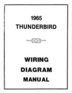 FORD-1965-Thunderbird-Wiring-Diagram-Manual-65