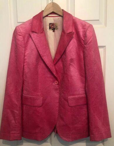 Jigsaw Uth Neon Blazer 10 By Size Cord Pink 55r7qw