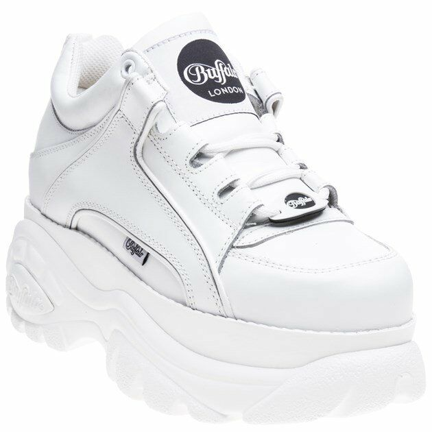New WOMENS BUFFALO WHITE 1339-14 2.0 LEATHER SHOES SHOES SHOES PLATFORMS 21d10c