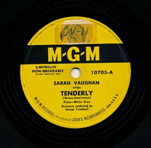 SARAH-VAUGHAN-on-1950-MGM-10705-Tenderly-I-039-ll-Wait-and-Pray