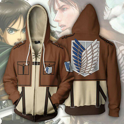 Attack On Titan Scouting Legion Hoodie Jacket Costume Shingeki No Kyojin Cosplay 100% High Quality Materials