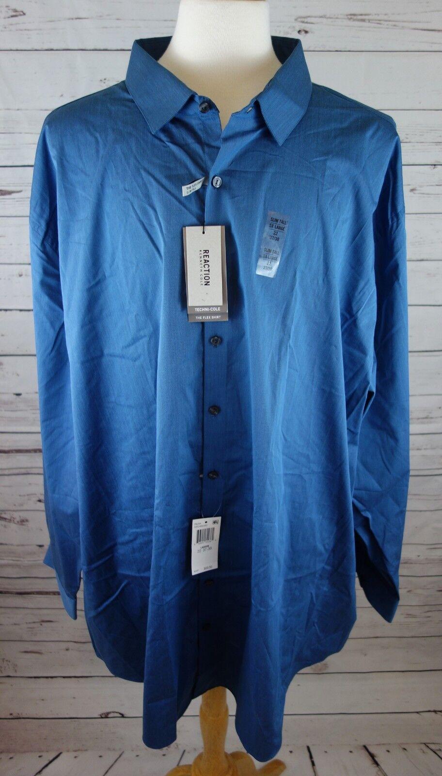 b79d6088 NEW Kenneth Reaction Mens Big & Tall Dress Shirt 22 37-38 Slim-fit Cole  nrajmq1567-Dress Shirts