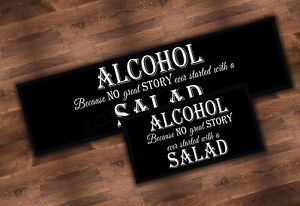 ALCOHOL OVER SALAD BEER LABEL BAR RUNNER IDEAL FOR HOME PUB BEER MAT OCCASION