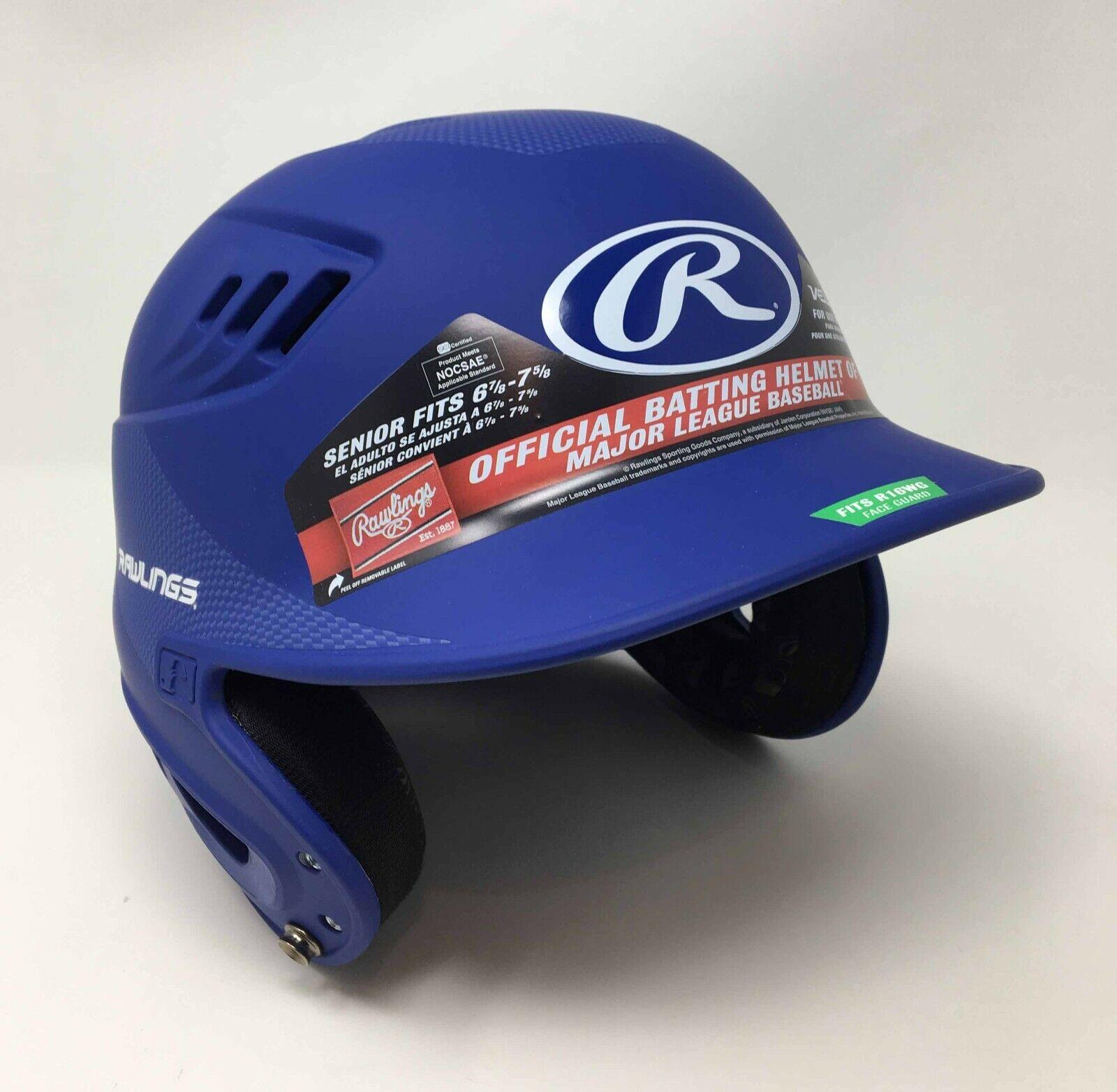 RAWLINGS Batting Helmet VELO Senior Fits 6 7 8 - 7 5 8 NEW bluee